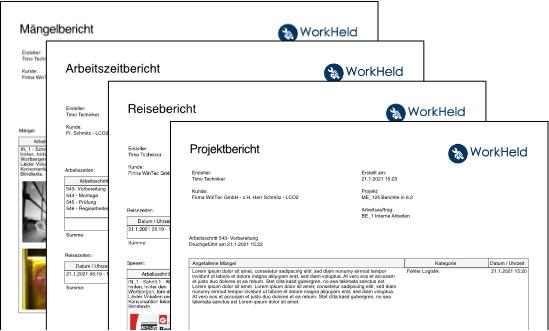 Bericht in WorkHeld